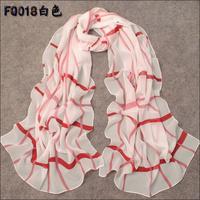 georgette silk scarf chromophous female spring and autumn scarf female