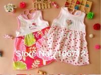 Free shipping children dress summer sleeveless dress baby princess dress Carter Wholesale 5pieces/set
