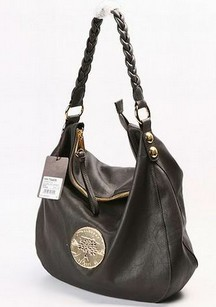 Daria Hobo chocolate soft spongy leather phantom handbag