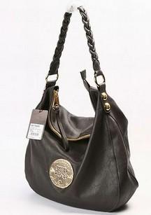 Daria Hobo chocolate soft spongy leather phantom handbag