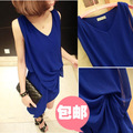 2013 spring women&#39;s fashion personality chiffon vest formal dress spring one-piece dress female