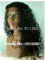 "22"",#1B,Curly,Indian Human Hair,Glueless Full Lace Wig, Small Size In Stock(China (Mainland))"