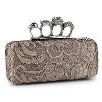 Fashion 2013 women's bag vintage day clutch skull ring bag clutch women's handbag evening bag