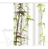 Free Shipping Chinese Bamboo Pattern Bathroom Bath Curtain T2927