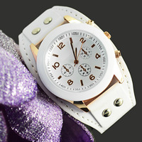 cool fashion student leather watch,girls quartz watch 2013 hot sale ladies analog watch free shipping