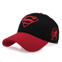 Spring and summer hat male women's 100% cotton embroidery quality super man cap baseball cap