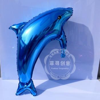 Heart aluminum foil ball dolphin balloon wedding decoration supplies balloon