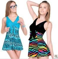 Free shipping 2014 Mm plus size plus size plus size hot spring female one piece dress  women's swimwear