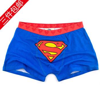 Super man 3 plus size 100% cotton cartoon male boxer panties personalized neiku : ck8