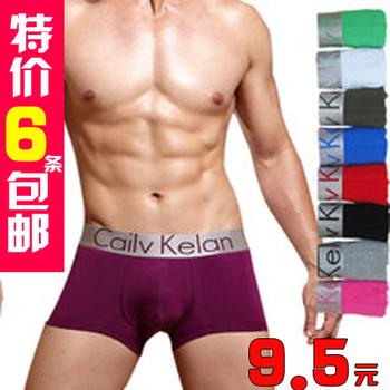 Silver male panties comfortable brief men's trunk modal ck13 u