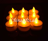 2X LED flickering flameless tea light candle multi-choice colors& packing quantity llz04X2