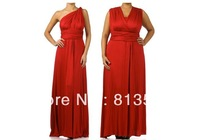 Maxi Dress Free Shipping Cheapest Jersey Multi Way Wraps Red Convertible Bridesmaid Dress Evening Party Dresses Long Style