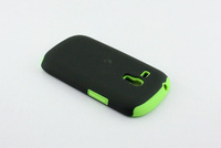 Hybrid 2 in 1 Soft Silicone + PC plastic Hard Case cover for Samsung i8190 Galaxy S3 S 3 III mini mobile cases 10pcs