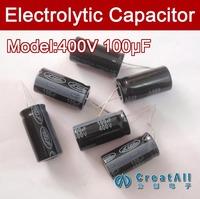 Free shipping 100pcs 100UF 400V electrolytic capacitor,400V 100 microfarad capacitors