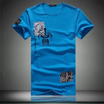 FREE SHIPPING 6xl 5xl 4xl xxxl  summer short-sleeve round neck T-shirt men's plus brand clothing cotton clothes slim casual top