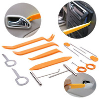 Free shipping 12pcs Auto Car Radio Door Clip Panel Trim Dash Audio Removal Installer Pry Tool