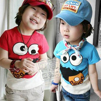 Factory price 2013 summer children clothing baby kid's child short-sleeve T-shirt 100% cotton free shipping