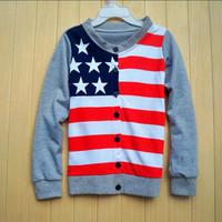 Free shipping 2013 spring children's clothing male female child child baby loop pile long-sleeve sweatshirt cardigan