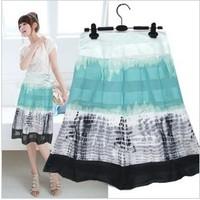 Free ship,lady/women bohemia floral chiffon short skirt plus size skirt 40# 5size
