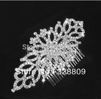 2013 New style designer white rhinestone  bridal hair comb hair accessory
