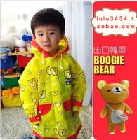 Fashion boogie bear cartoon child raincoat poncho baby student raincoat
