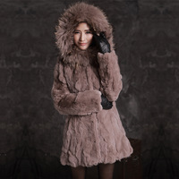 Meters 2013 rex rabbit hair fur coat plus cotton big raccoon hat brim warm overcoat