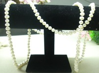 Natural freshwater pearl necklace long design necklace 120cm necklace