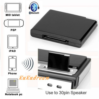 Wireless Bluetooth A2DP Music Receiver adapter Apple 30pin connector with LED indicator for iPad iPod iPhone SpeakerDock Station