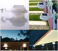 3led sink lamp LED Fence light  Solar powered decorative light  corridor lights 4pcs/lot Free shipping