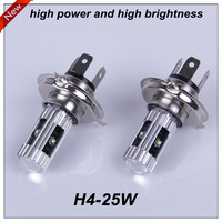 2013 New Products High Power 2 PCS H4 CREEX 5 25W DC 12-24V LED Fog light Wedge Bulb Lamp Car Accessory