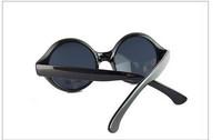 10x Women Retro Plastic Round Sunglasses Shades Eyewear UV Protection Goggles Black
