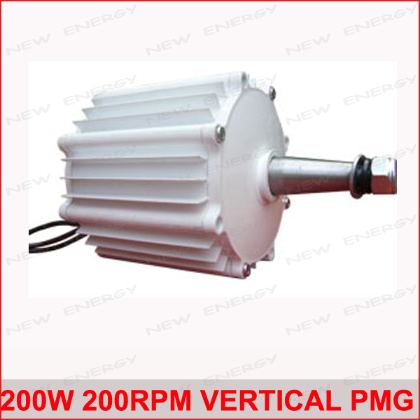 Free Shipping! High quality 200w 200rpm low speed vertical permanent magnet ac generator wind turbine generator(China (Mainland))