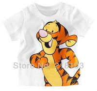 baby boy's short sleeve t-shirt Kids cartoon Summer Wear tigger top Short Sleeve t-shirt