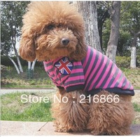 Free shipping wholesaledog clothes  for dogs products  fashion clothes summer T-shirt  Pure cotton  woven stripe T CY11