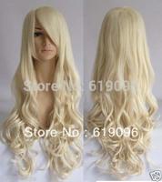 New fashion lady's Hair wavy long Blonde Wig