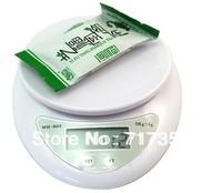 Free shipping New 5kg 5000g/1g Digital Kitchen Food Diet  Scale  K1012