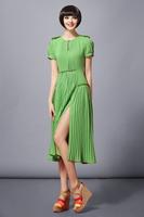 2013 Wholesale Price Free Shipping Women's Short Sleeve Classic Dresses Vintage Bohemia Style Long Chiffon Dresses LY121077