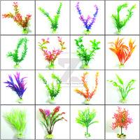 Top Aquarium Ornaments Fish Tank Simulated Water Plants Plastic Plant Decor New 3pcs/lot Free Shipping 16 kinds for choice