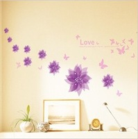 Free shipping 45*60CM third generations pvc wall stickers Wall decoration applique tv romantic wall stickers