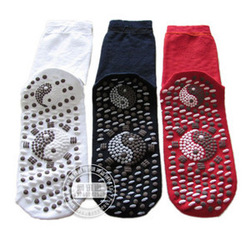 Tourmaline self-heating health care socks far infrared socks thermal heat socks(China (Mainland))