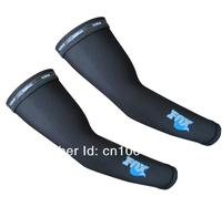 For Cycling MTB Mountan XC FR Road Fold Bicycle Bike Sport Fox Arm Sleeve Warmers (S/M/L/XL/XXL), Ship BLACK L