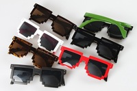 Free Shipping 2013 new fashion women and men Mosaic sunglasses,CPU Gamer Geek Designer Creative glasses 7colors,10pc/lot