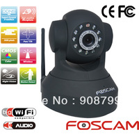 ORIGINAL Foscam CCTV WiFi Wireless Pan/Tilt IR IP Camera FI8918W 2-Way Audio iphone View Black(FREE SHIPPING)