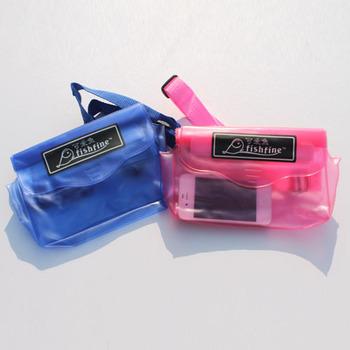 Fish waterproof bag mobile phone bag waterproof waist pack Large 12 19 1.5