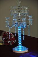 free shipping Wholesale Lot of 10pcs 3W Led High power Multi color Wedding Candelabra Decoration