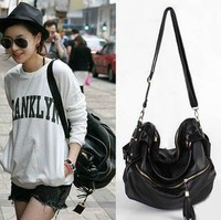 HOT SALE free shipping 2013 bag rivet spring female bags star style tassel women bag