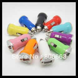 200pcs Wholesale Fedex dhl mini car charger for iphone4 5 ipad mobile phone mp3 for apple iphone ipod,5V 1000MA usb car charger(China (Mainland))