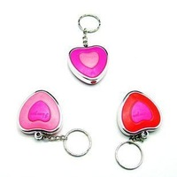 Novelty keychain heart lamp heart keychain with light