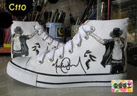Michael Jackson hand-painted shoes graffiti shoes canvas shoes female male - - c110