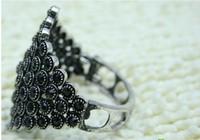 Free shipping 1ot/10pcs New Punk Rock antque stye silver Plated Bangle Cuff Bracelet Punk Bangle Fashion Jewelry crystal mounted